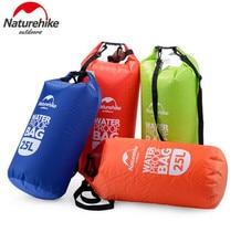 цена на NatureHike 2L 5L 15L 25L Ultralight Outdoor Travel Rafting Camping Hiking Swimming Waterproof Bag Dry Bag