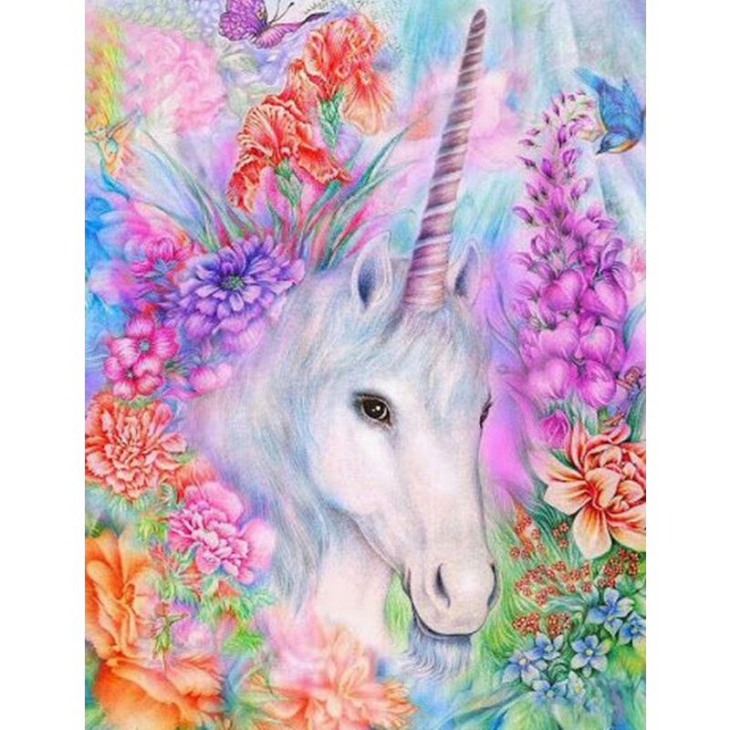 unicorn horse tender Animal DIY Digital Painting By Numbers Modern Wall Art Canvas Painting Unique Gift Home Decor 40x50cm