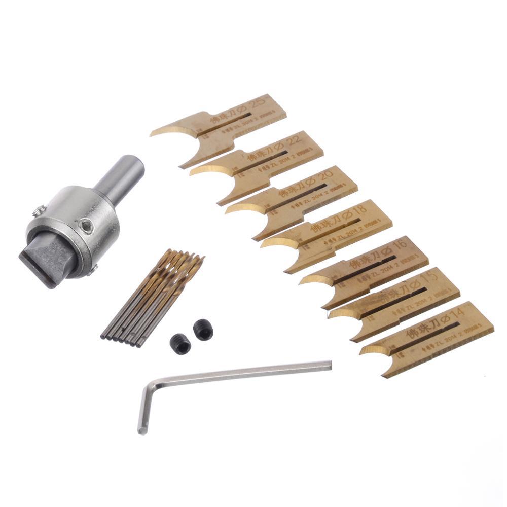 16 peças de madeira grânulo broca carboneto bola lâmina ferramenta de moldagem contas roteador bits para carpintaria fresa 14-25mm