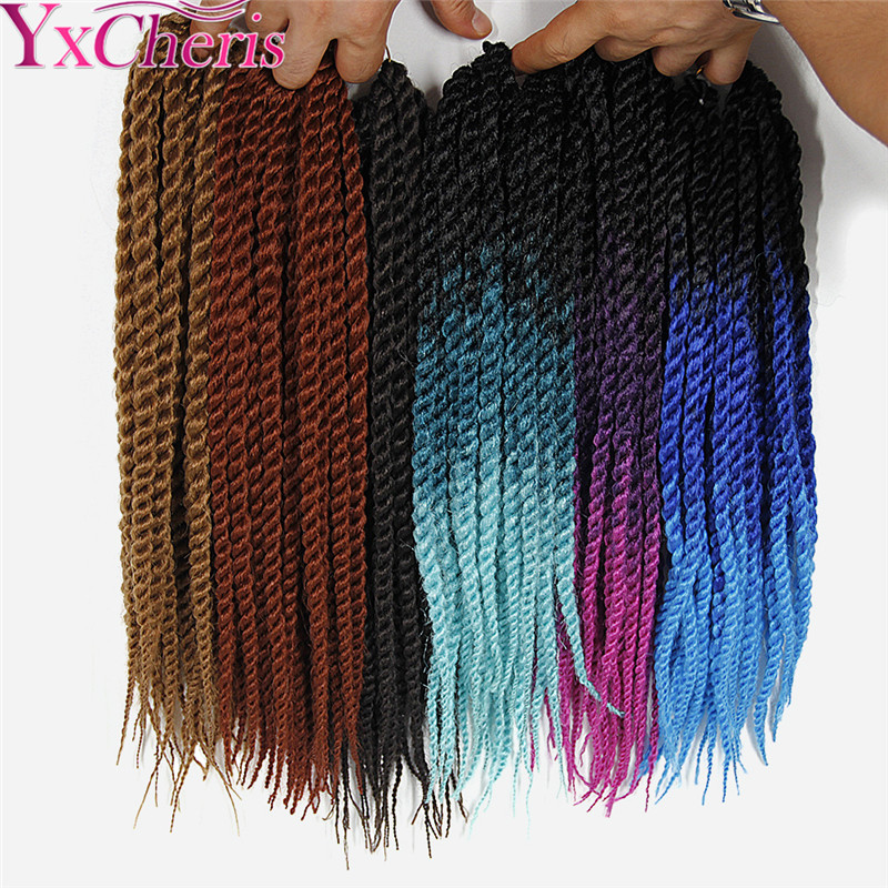 senegalese twist hair crochet braids Synthetic Extensions for women 18 Kanekalon crochet hair extensions YxCherisHair Aimee ...