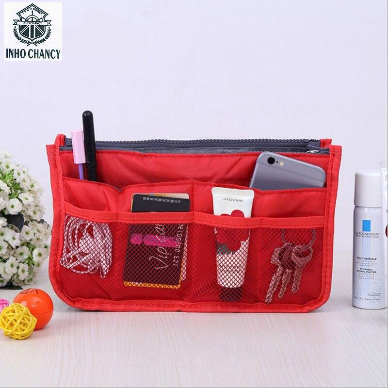 INHO CHANCY Multifunction Beautician Girls Makeup Organizer Bag Women Travel Cosmetic Bags Toiletry Kits maleta de maquiagem