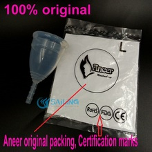 Медицинского силикона менструальный кубок женская мягкий кубок дива не боковое скольжение пройти тест FDA здоровый безопасности кубок дива