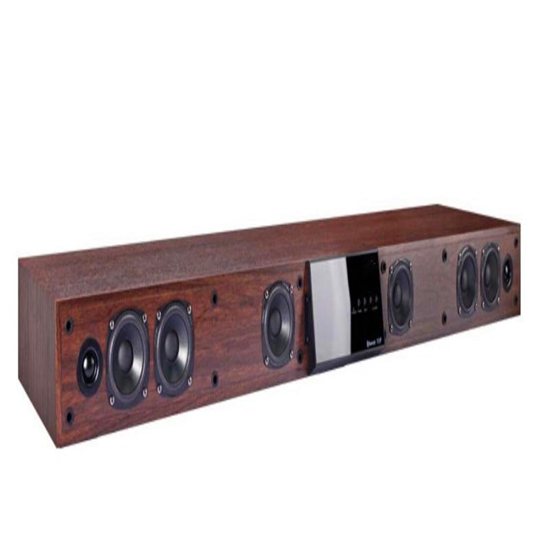 116w 5.1ch super bass built-in 6.5inch subwoofer home theater MDF wooden lengthened base type soundbar designed for TV