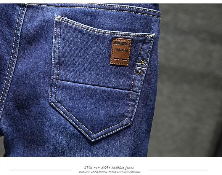 75fba05af1e69 Fit -10 centigrare Hommes Hiver Polaire Jeans Jeans Flanelle Doublé Stretch  Denim Slim Fit Pantalon Pantalon Homme
