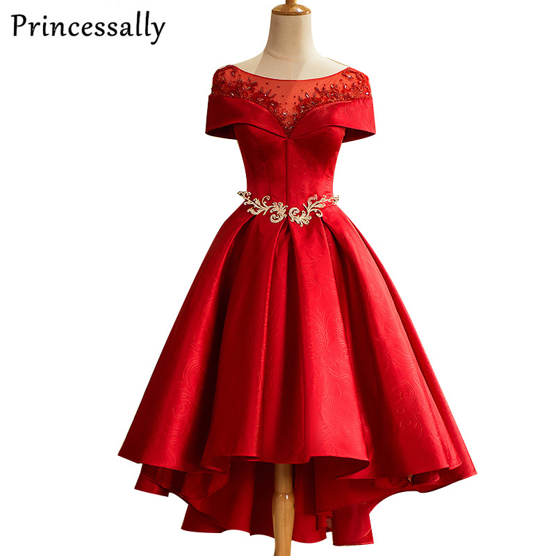 Tea Length Red Cocktail Dress