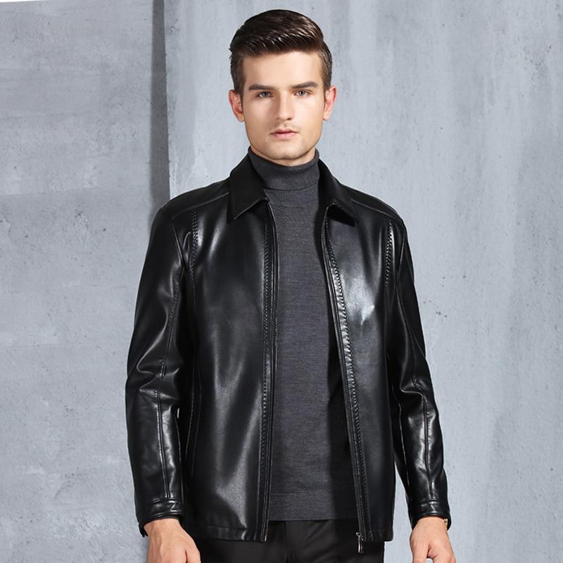 New Arrival Men's Genuine Leather Jacket Men Coat Brand Men Leather Bomber Jacket Blazers Veste Cuir Homme short Slim Coat Men