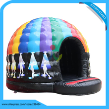 Inflatable bouncer disco game for kids