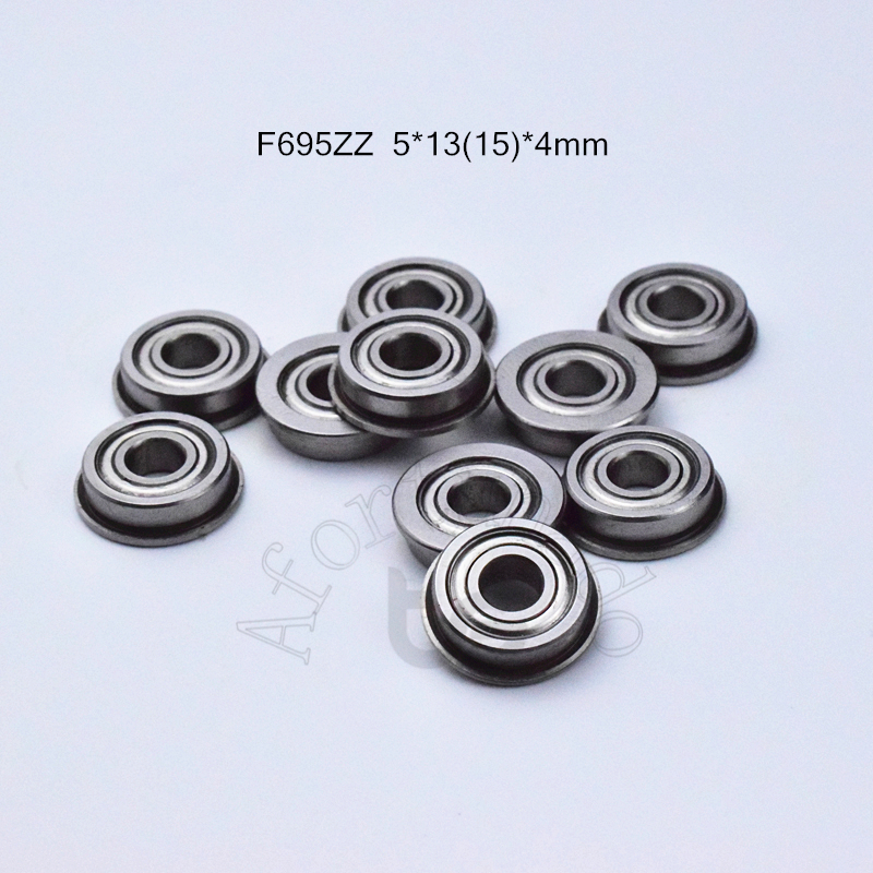 F695ZZ 5*13&15*4 MM Free Shippping Flange Bearings  695 F695Z F695ZZ Chrome Steel Deep Groove Bearing Free Shipping