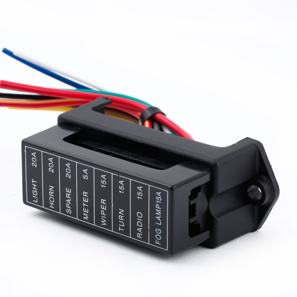 8 Way DC32V Fuse Holder Circuit Car Trailer Auto Blade Fuse Box Block Holder ATC ATO atc fuse box 40 amp automotive fuse \u2022 free wiring diagrams life Outdoor AC Fuse Box On at mifinder.co