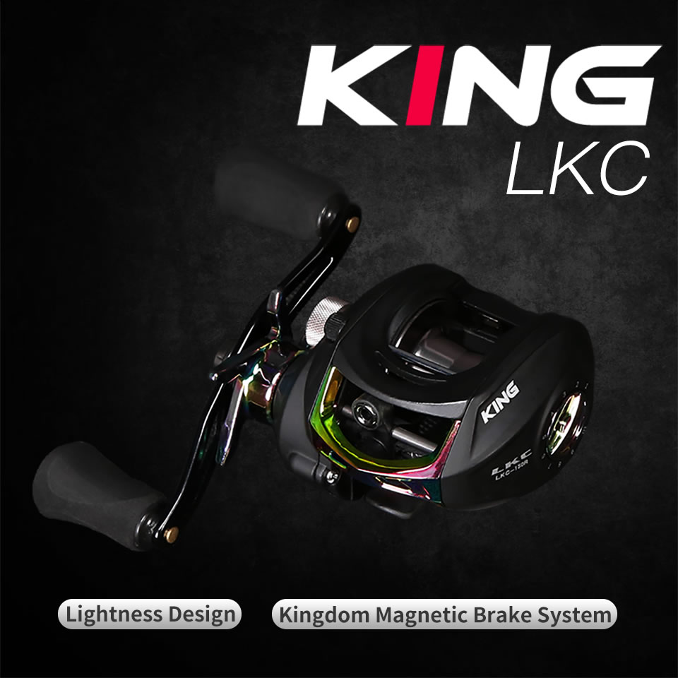 Kingdom KING II Spinning Rod Combo Baitcasting Spincasting Fishing Rods Reel set 2pc Top Section and 2pc Power Fishing Tackle (12)