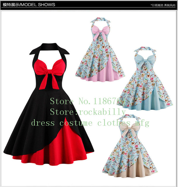 d57fecc3bc9fc Audrey Hepburn Style Vintage Dresses Summer Plus Size 4XL Casual Party Robe  Rockabilly Floral 50s Big Swing Retro Dress