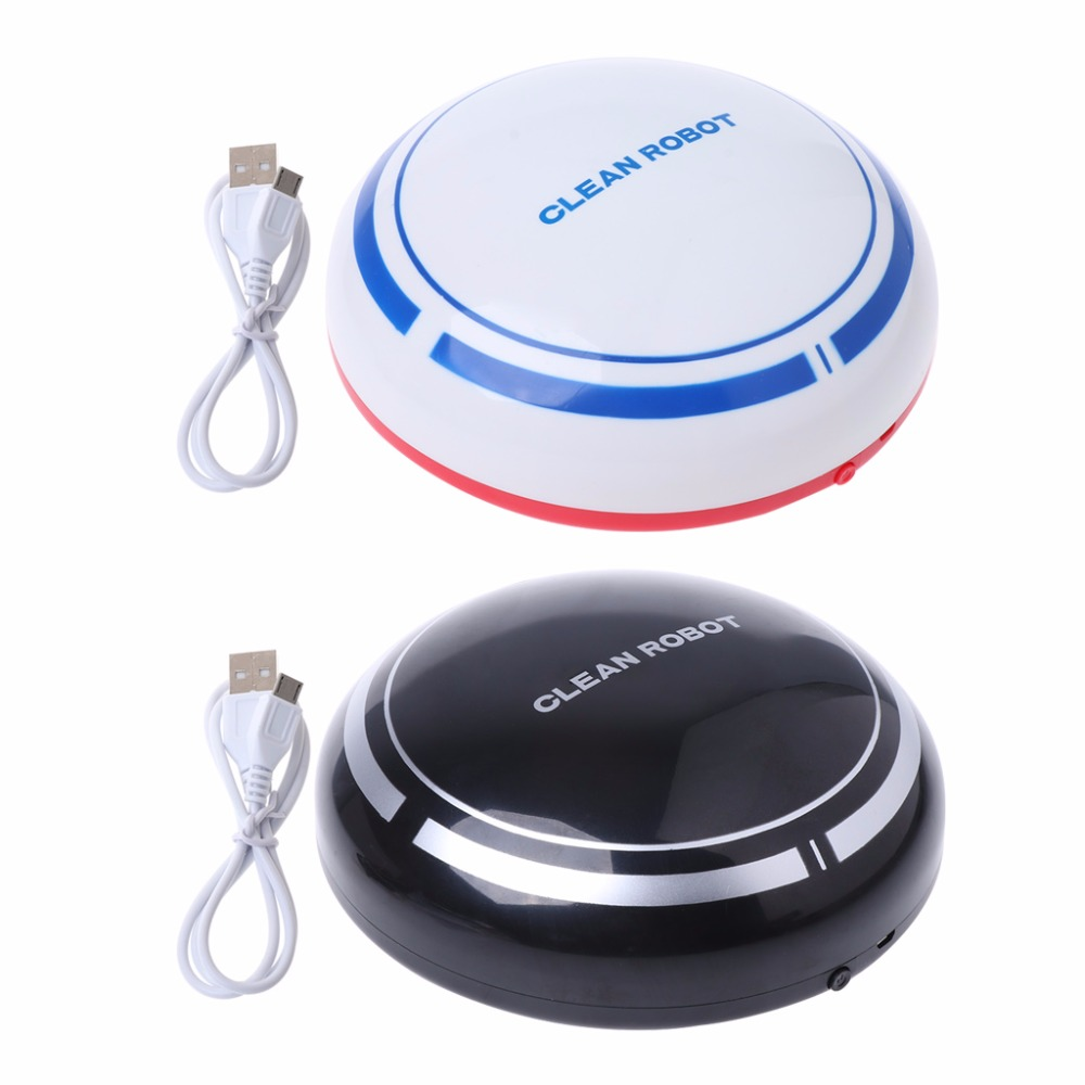 Automatic USB Rechargeable Smart Robot Vacuum Mop Floor Cleaner Sweeping Suction xshuai hxs g1 vacuum cleaner robot wireless 2000pa super suction auto recharge gyro navigation sweep drag for wood floor carpet