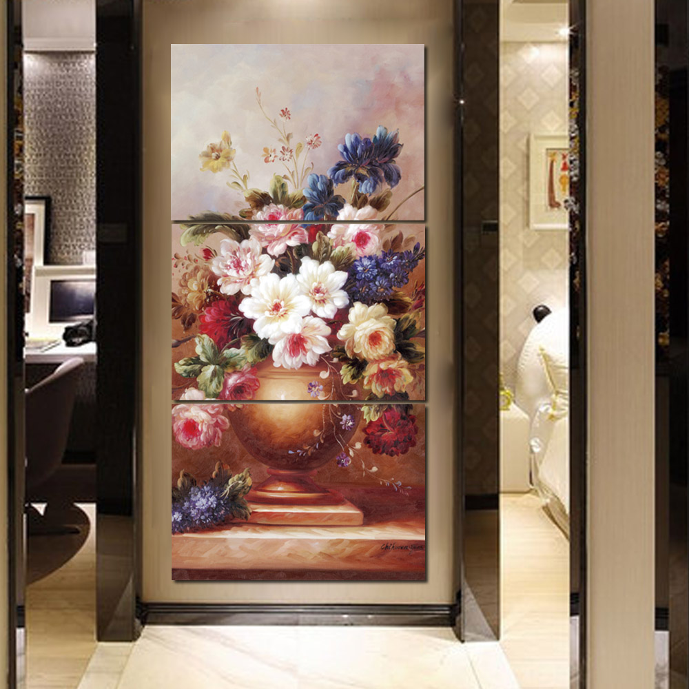 Unframed 3 HD Canvas Painting Flower Giclee Wall Decor For Living Room Bedroom Decorative Painting Unframed Free Shipping