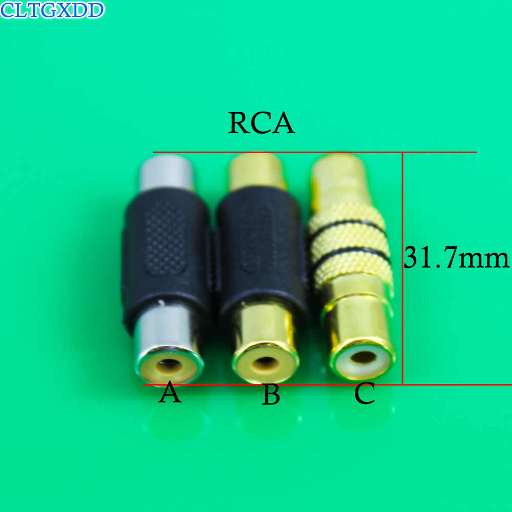 cltgxdd RCA AV female to female F/F joiner coupler audio adapter connector Black Dual In-Line Couplers RCA female head