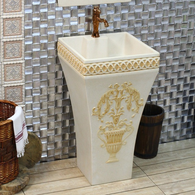 Europeo archaize il lavandino/pietra artificiale ware/arte/bagno ...