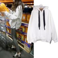 kpop Blackpink White long sleeves hooded sweatshirts women exo 2019 autumn popular Korean fashion streetwear hoodies women tops