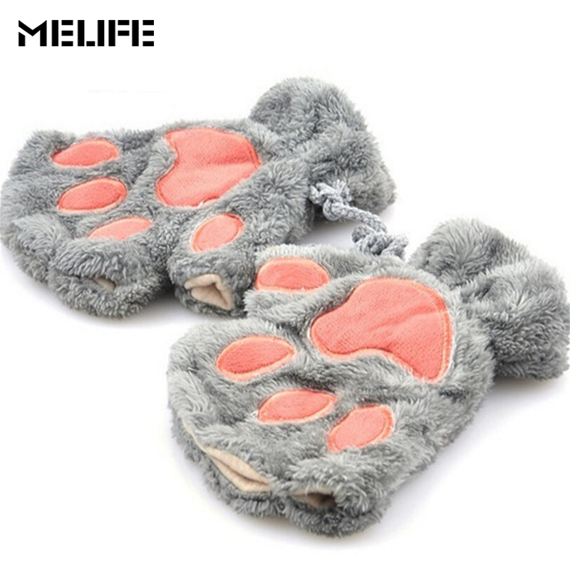 melife new arrived ski gloves lovely women bear thermal. Black Bedroom Furniture Sets. Home Design Ideas