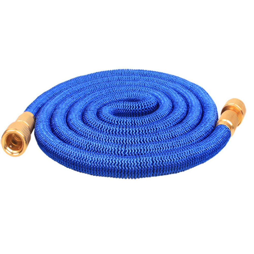 50 FT Home Garden Hose Lawn Car Washing Leakproof Expandable 3 Times Flexible Wear Resistant Automatic Drainage Water Pipe