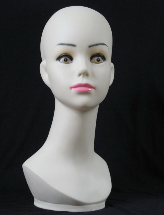 Freeshipping Female mannequin hair head stand,jewelry mannequin tete a coiffer pour perr ...