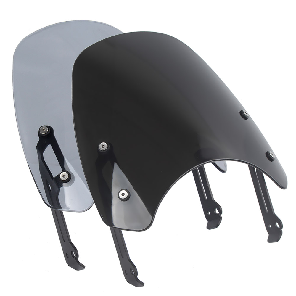 Motorcycle Touring Front Flyscreen Windscreen Windshield Shield Screen With Mounting Bracket For Ducati Scrambler 2015 2018 in Windscreens Wind Deflectors from Automobiles Motorcycles