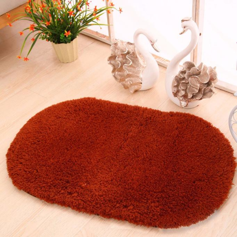 Ouneed Soft Oval Beiji Rong Fabric tapis salle de bain Non-slip Bathroom Carpet Mats for Bathroom And Toilet 60cm*40cm ...