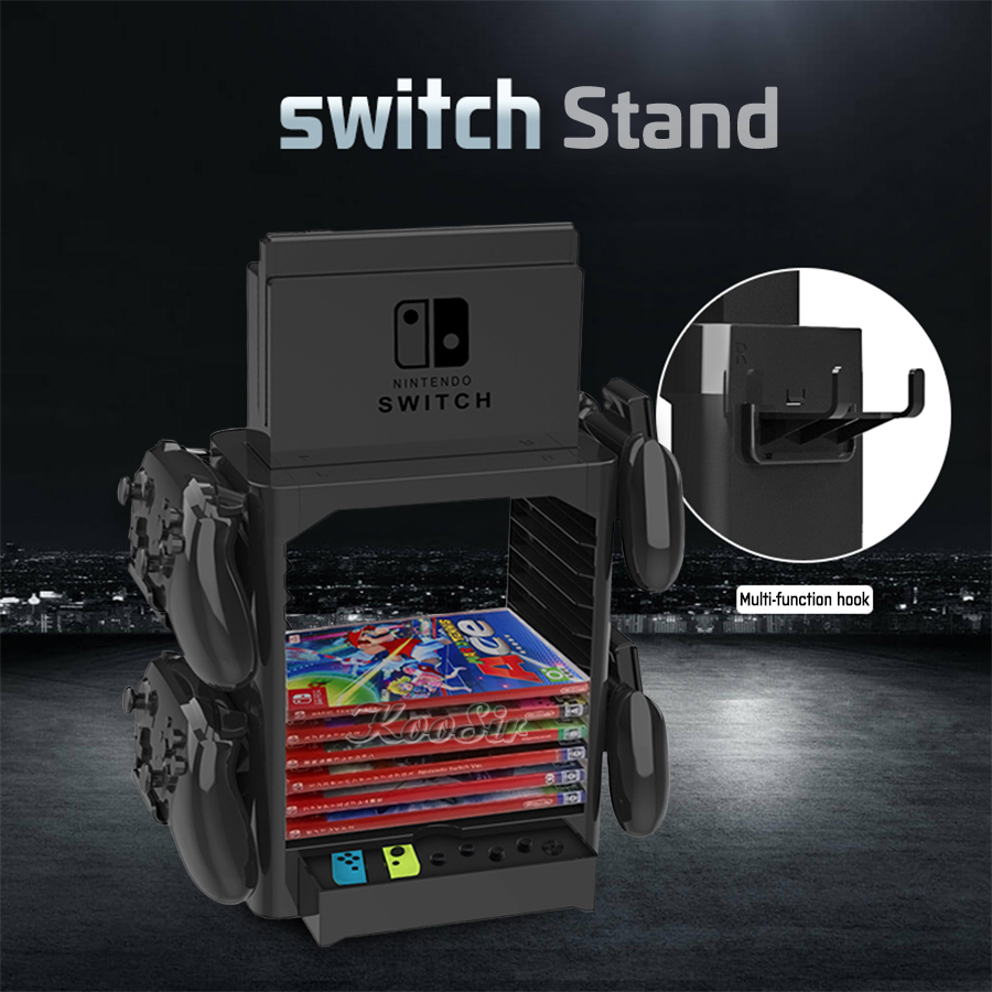 Nintendos Nintend Switch Console Accessories Storage Stand Nintendoswitch Game CD Disc Joycon Controller Holder Tower for NS Bag