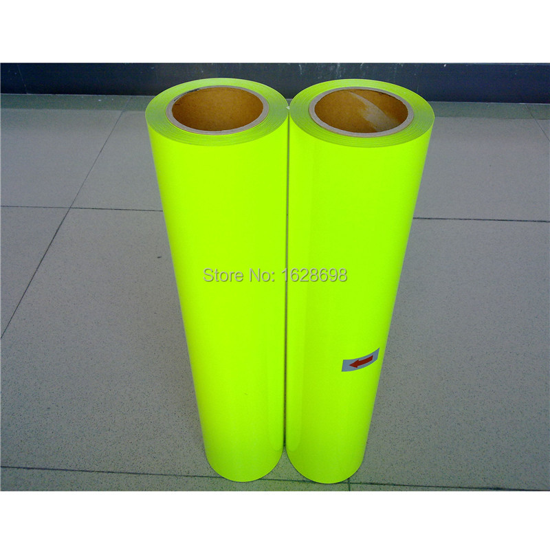 CDU 28 Neon Yellow color PU heat transfer vinyl transfer film for clothing printing