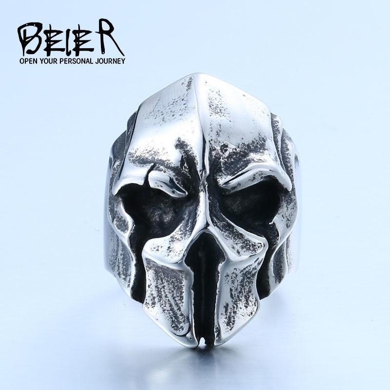 new store dropshipping big punk biker skull ring for man stainless steel unique punk men cool - Skull Wedding Rings For Men