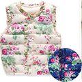 2016 осень весна детские зимние куртки дети девушки жилет сладкий цветочный вниз теплый жилет детской одежды 2 цвет