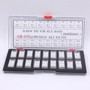 Envío Gratis, 90 Uds., pasadores de tornillo, enlaces para correas de reloj RLX/pulseras/juego de correas de varios tamaños