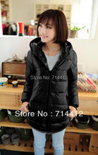 Woman winter plus size down parkas New Women's Sports And Leisure Hooded Sweater Wei ML D05