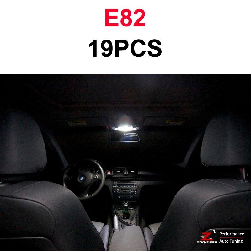 Идеальный ксеноновый белый Canbus без ошибок светодиодный купольная карта светильник комплект для BMW 1 серии E81 E87 E82 E88 F20 F21(2003 - Испускаемый цвет: 07-13 E82 (19PCS)