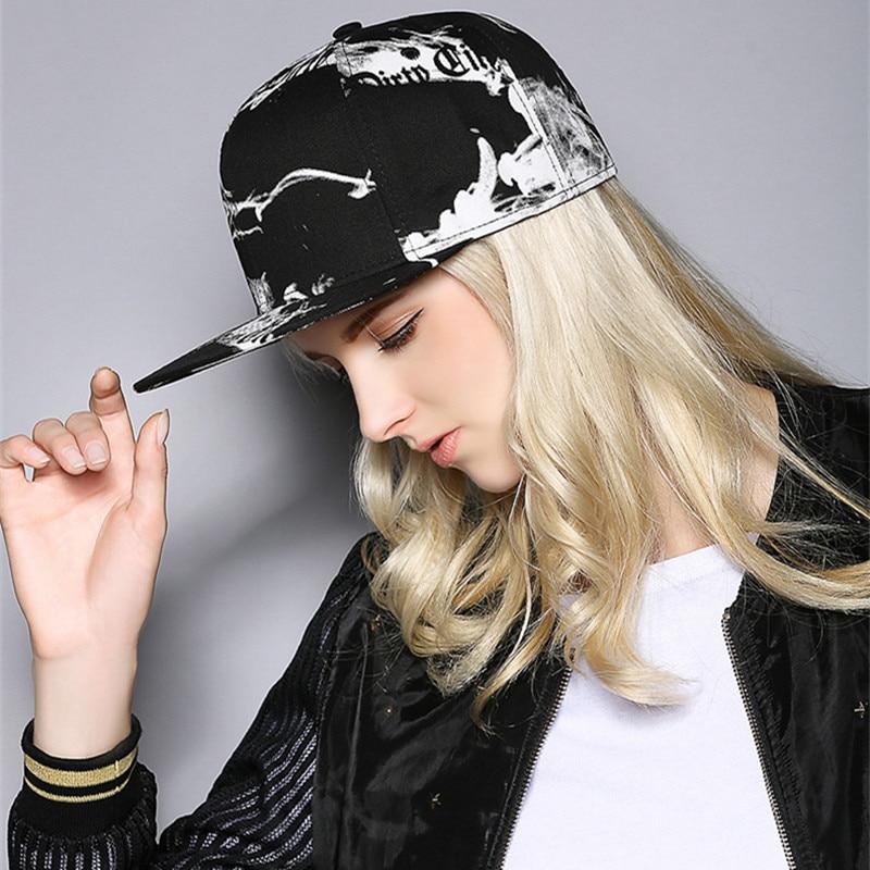 low priced ac9e4 b690c Aliexpress.com   Buy joejerry Ink 3D Printed Baseball Cap Hip Hop Men Women  Snapback Black White Flat Cap Graffiti Size Adjust from Reliable cap  graffiti ...