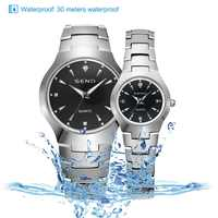 Hot Couple Watches for Lovers Tungsten Steel Waterproof Gifts Couples Watch Man and Ladies Dress Men Clock