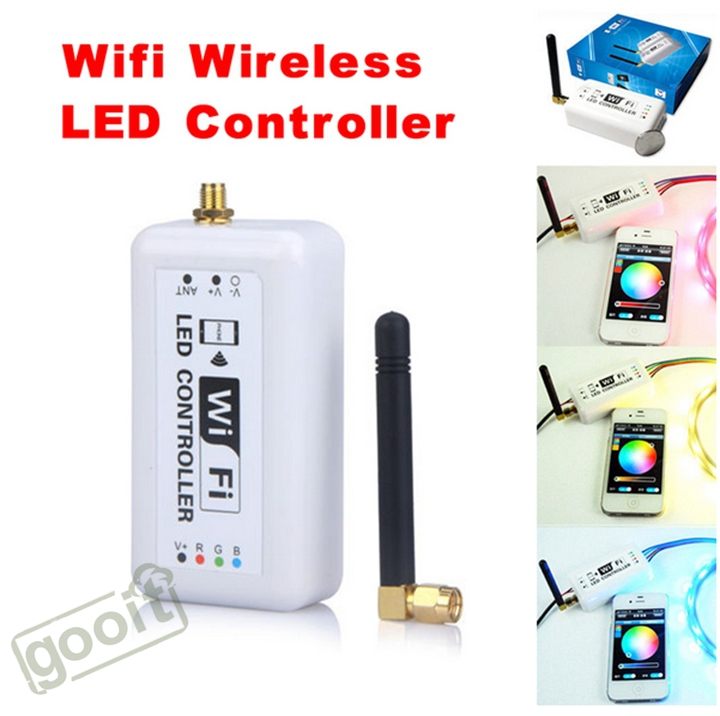 ФОТО Wifi RGB LED Flexible Strip Controller For Iphone Android Mobile Phone DC7.5-24V Without Remote