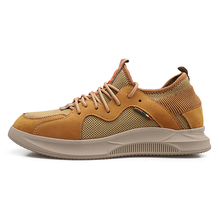 Height Increase Leather Casual Men Sneakers Elevator Shoes Thick Sole Young Daily Footwear Spring/autumn 5#20D50