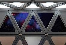 Laeacco Universe Spaceship Interior Nebula Scene Photography Backgrounds Customized Photographic Backdrops For Photo Studio