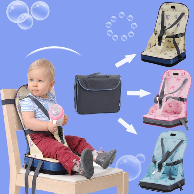 Bebê Comer Cadeira com Cadeira do Saco de Assento Cadeira Portátil Crianças Cadeiras De criança Cintos de segurança Cinto de Segurança Dobrável De Jantar Alimentação cinto