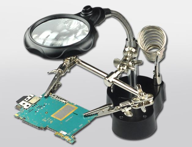Soldering Station Soldering Iron Support Stand with Magnifier 3.5&12x and Clamp Welding Soldering Station PCBA repair tool