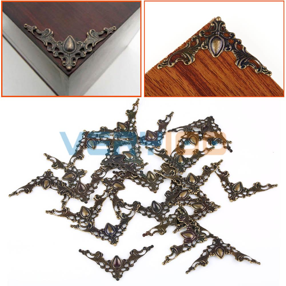 24pcs Jewelry Box Gift Wine Case Book Scrapbook Album Corner Decorative Protector