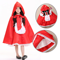 2017 New high quality Little Red Riding Hood cosplay costume princess halloween fancy dress clothing for Kids girl whole set