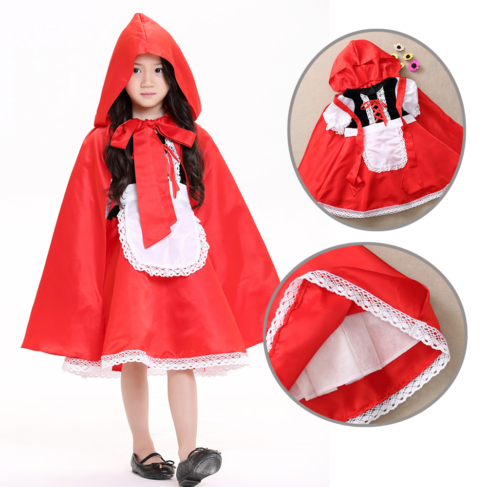 2018 Nueva alta calidad Little Red Riding Hood cosplay traje princesa - Disfraces - foto 2