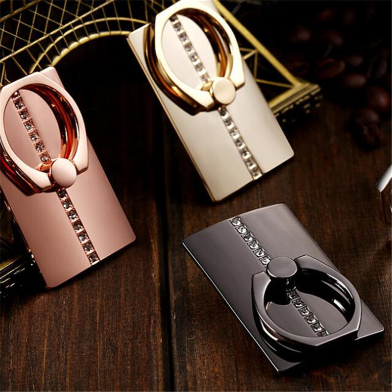 Galleria fotografica UVR Heart Diamond Metal Finger Ring Smartphone Stand Holder Mobile Phone Stand For iPhone Huawei Xiaomi Mount