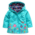 Children Hooded Jacket Girls Jackets Coats Children's Coat Spring Fashion Children Raincoat Clothing Boy Dinosaur Printing Coat