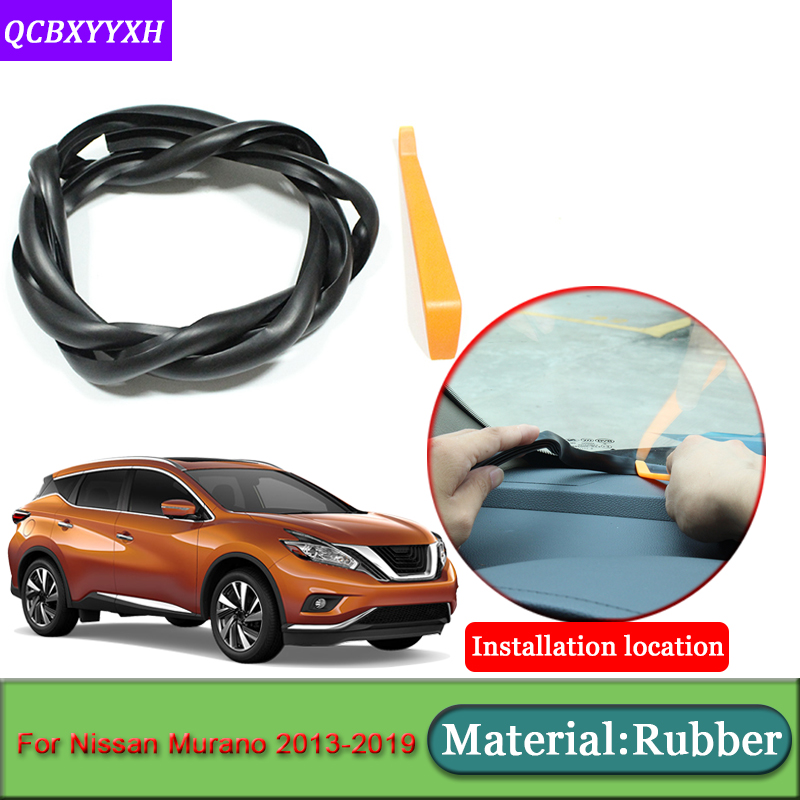 Car-styling For Nissan Murano 2013-2019 Anti-Noise Soundproof Dustproof Car Dashboard Windshield Sealing Strips Auto Accessories