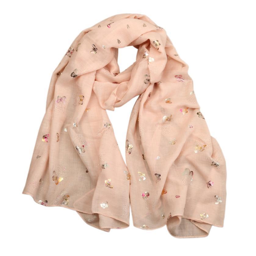 KüHn Winter Schal Frauen Luxus Marke Dame Baumwolle Schmetterling Drucken Lange Wrap Frauen Schal Pashmina Silk Schals Mädchen Bandana Echarpe