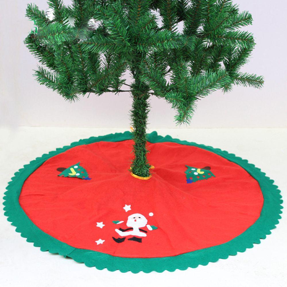 1 Pcs Fashion Kerst Decoraties Voor Huis Rechte Rand 90 Cm Non-woven Kerstboom Rok Schorten Het Verlichten Van Reuma