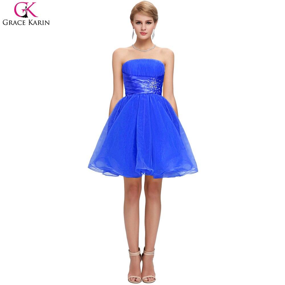 Grace karin cocktailkleider 2017 schwarz weiß blau gelb short prom ...