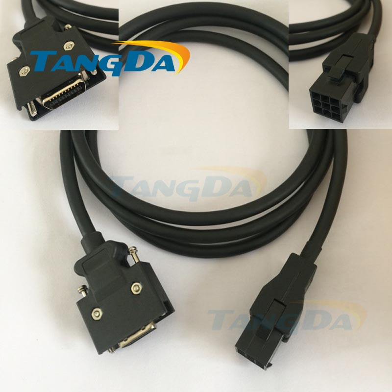 Tangda Servo motor code line series connection wire Cable 5 meters MR JCCBL5M L MR J2S 40A HC KFS43 JCCBL5M mfmca0033fct cable for panasonic servo motor