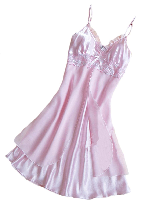 1Pc New Sale Women's Lace Lingerie Nightgown Babydoll Strap Sleepwear Sleepshirts